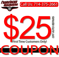 franciscos automotive repair discount offer